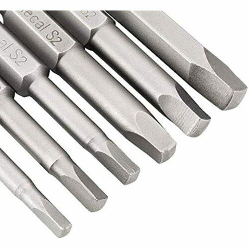 Details about  /6 Pcs 1//4 Inch Hex Shank Long Magnetic Square Head Screwdriver Bits FREE SHIP