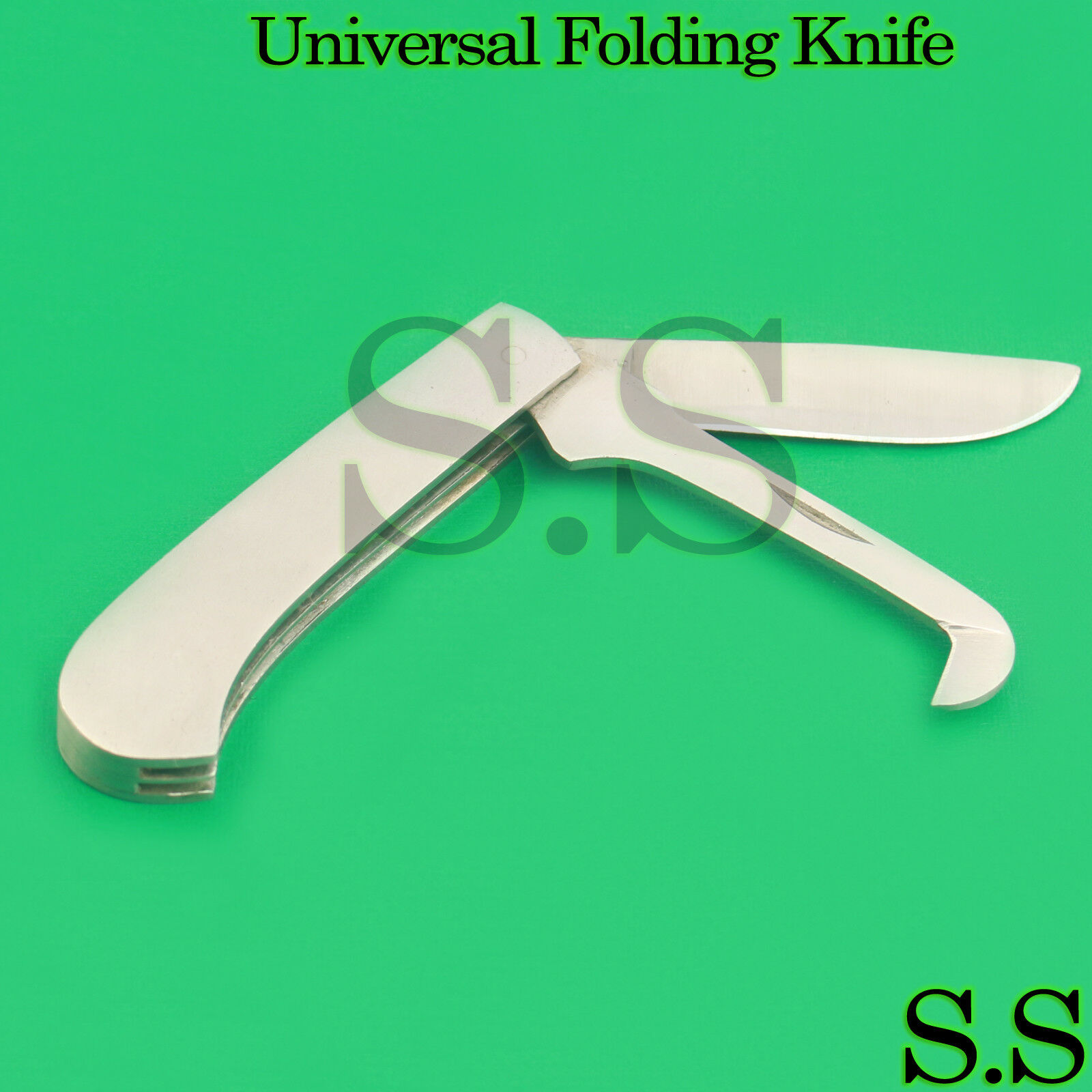 10 Pcs Universal Folding Knife Two Blades Blades Two Veterinary Stainless Steel Instruments 47ca51