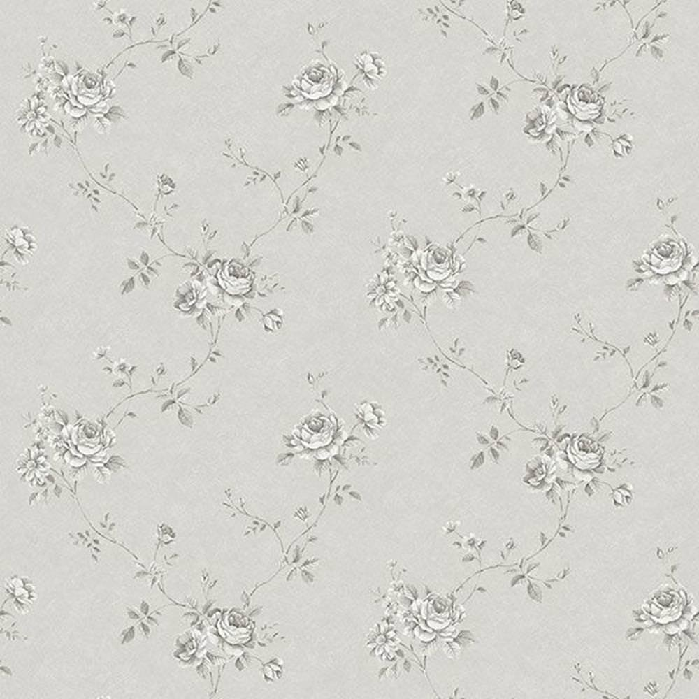 G67631 - Palazzo Floral Trail Grey Galerie Wallpaper