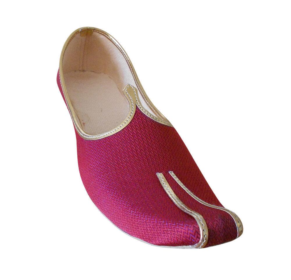 Jutti Men Shoes Sherwani Handmade Red Khussa Toe Loafers & Slip Ons Flat US 6-12