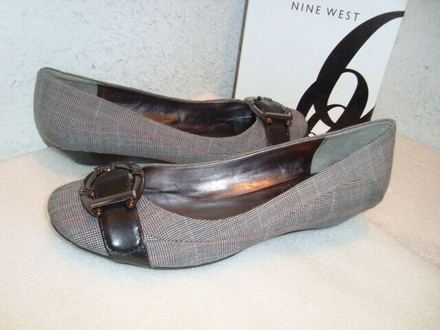 Nine West Womens NWB Caged BlK Combo Fabric shoes 5.5 MED NEW