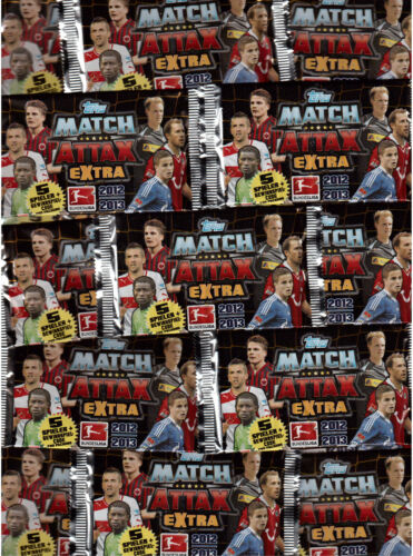 Topps Match Attax extra//trading cards//10 pochettes emballage d/'origine//2012-2013//12-13
