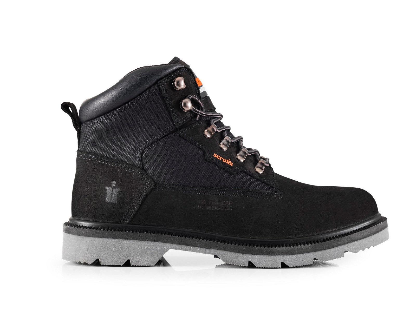 Scruffs TWISTER schwarz Safety Hiker Work Stiefel (Größes 7-12) Steel Toe Midsole    | Konzentrieren Sie sich auf das Babyleben