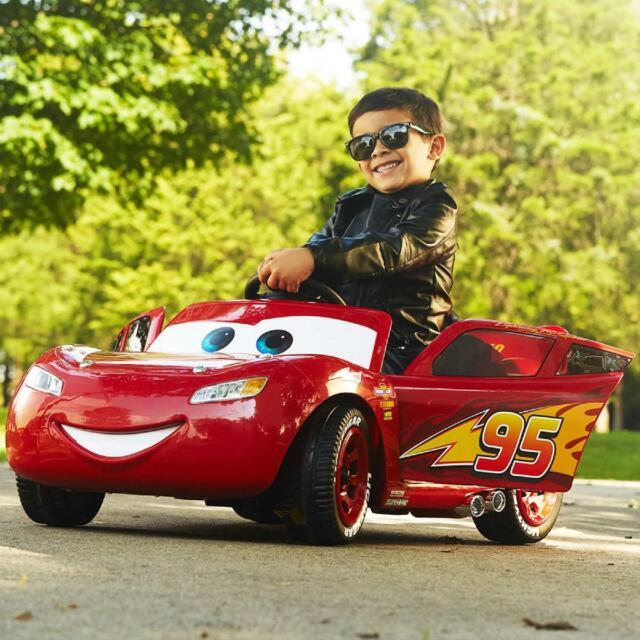 Disney Pixar Cars 3 Lightning McQueen 6V Battery And Charger Powered Ride Easy