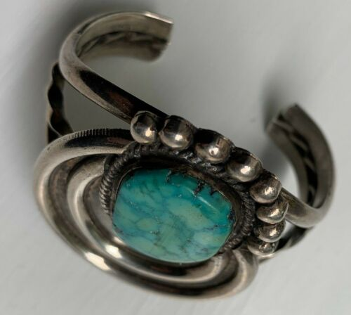 GREAT SOUTHWEST NAVAJO  STERLING SILVER TURQUOISE
