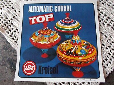 Brummkreisel Lbz Original Aufkleber Für Karton Bolz Kreisel Automatic Choral Top Spielkreisel Lassen Sie Unsere Waren In Die Welt Gehen