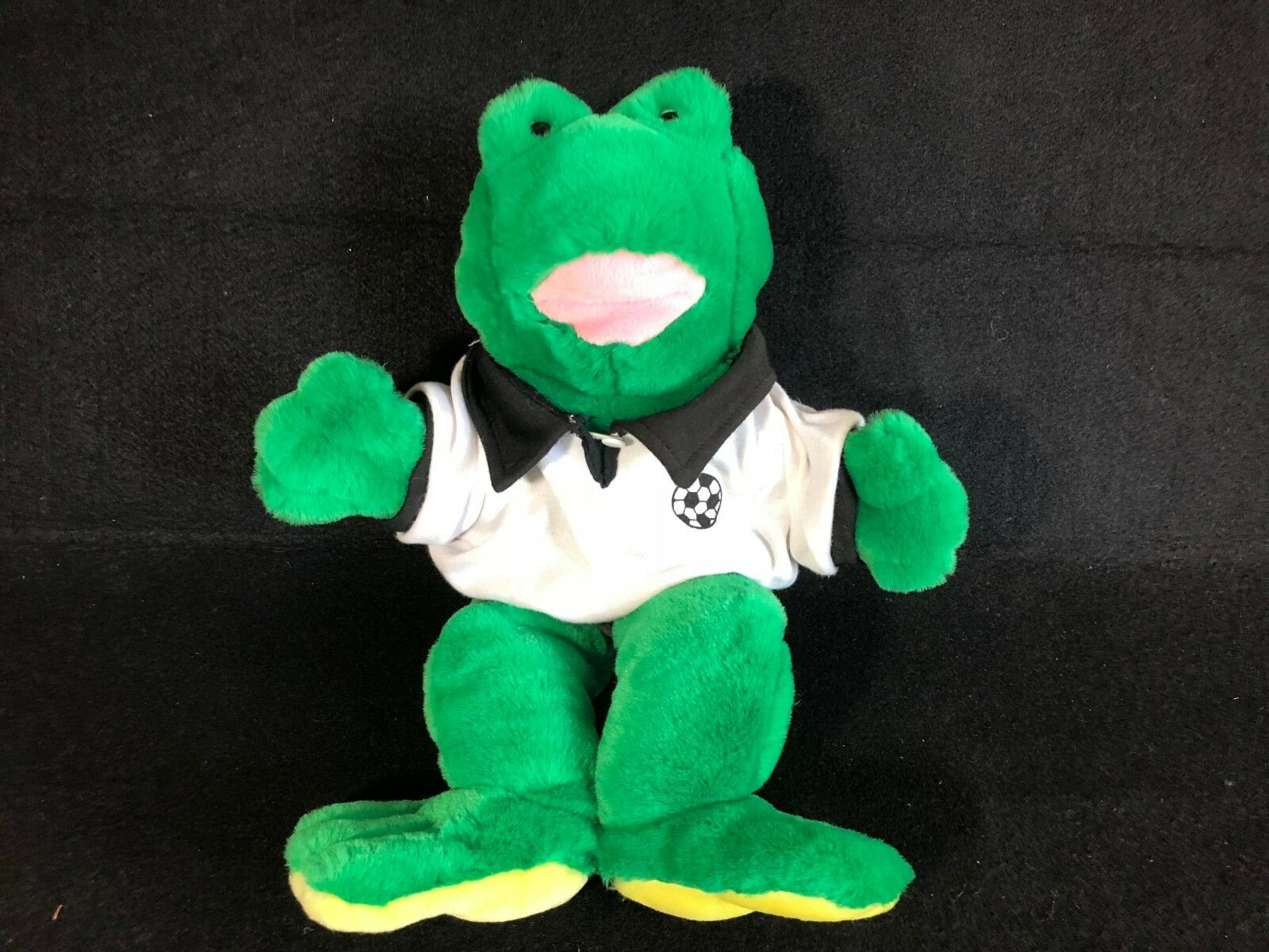Build a bear vintage green frog Floppy Beans Soccer outfit 19