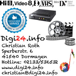 berspielen digitalisieren von vhs vhs c hi8 digital8 video8 auf dvd. Black Bedroom Furniture Sets. Home Design Ideas