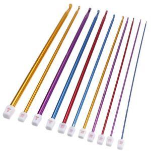 11-Tailles-Multicouleur-Aiguilles-a-Crochet-en-aluminium-oxyde-2-0-8mm-C6X5