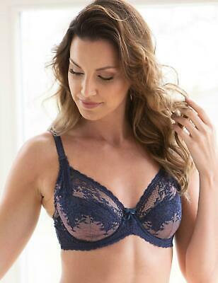 Charnos Bridgette Bra Full Cup 1644040 Underwired Non Padded Lace Lingerie