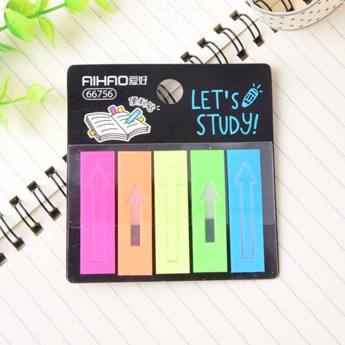 100pcs plastic self adhesive memo pad sticky notes bookmark index paper school0c