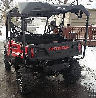 14 15 16 17 18 19 Honda Pioneer 700 1000-5 Tailgate Lettering Gloss Red