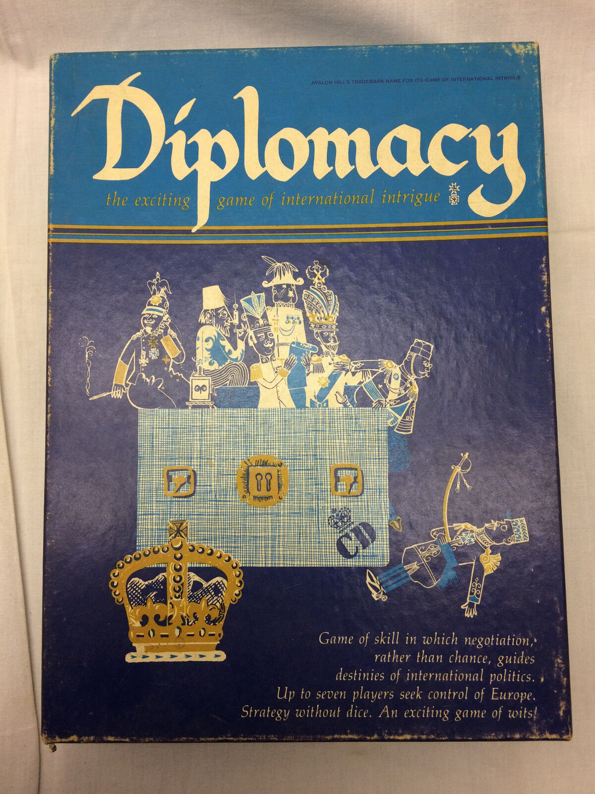 Vintage Avalon Hill Hill Hill Diplomacy Game Table Top Strategy 158fdc