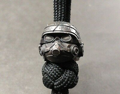 """Collectible Solid Bead """"Helghast Killzone"""" Knife Paracord Lanyard ,Handmade"""