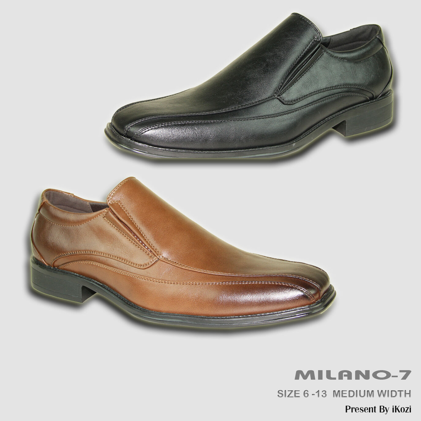 BRAVO New Men Dress shoes MILANO-7 Loafer Square Bicycle Toe Leather Lining