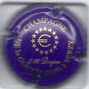 Capsule de champagne Rogier Jean Michel bleu clair et or New