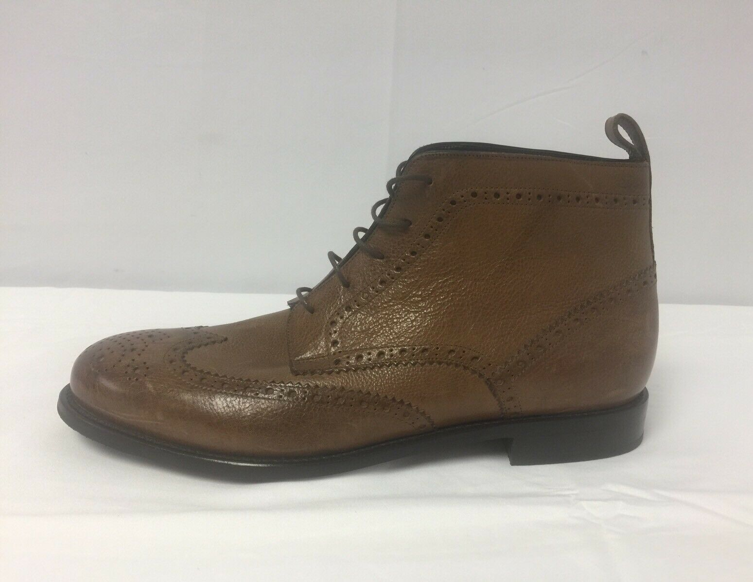 New Canali Canali Canali Perforated Wingtip Lace Up Brown Pelle Stivali Size 45EU/12US  995.00 835722