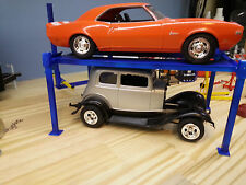 4 post model car lift 1:24 1:25 scale Diorama