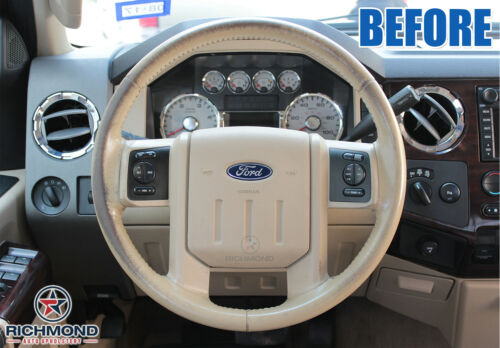Leather Wrap Steering Wheel Cover Tan 2007 2008 2009 Ford Expedition