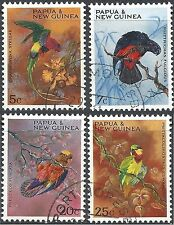 Papua New Guinea 1967 PARROTS(BIRDS) (4) Fine Used (CTO with gum) SG 121-4