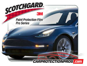 Details about 2019 Tesla Model 3 3M Pro Series Clear Bra Front Bumper Paint  Protection Kit
