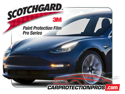 3M Scotchgard Paint Protection Film Pro Series Clear 2018 2019 Tesla Model 3