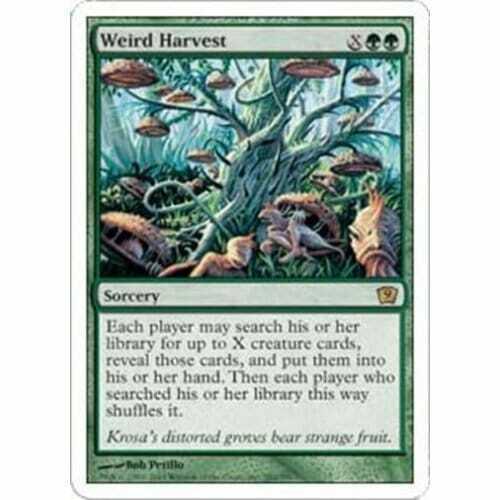Weird Harvest Condition MTG NINTH EDITION Good