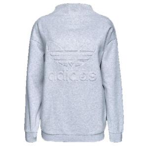 save off 99b78 f7478 Dettagli su Adidas Trifoglio Originali Ny New York Pile Donna Felpa Morbido  Grigio