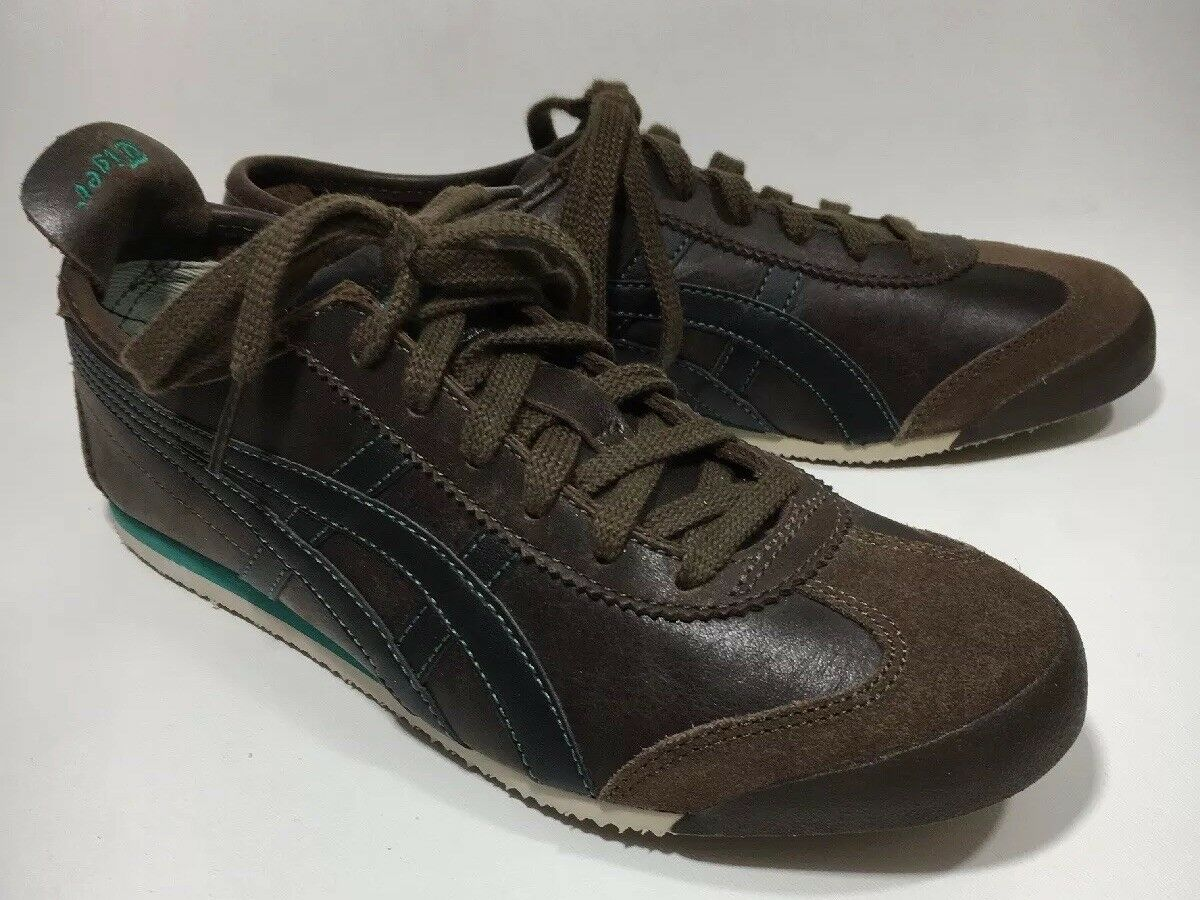 ONITSUKA TIGER by ASICS Mexico 66 Women's shoes Brown Sneakers Size 8.5M EUC