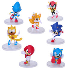 Sonic The Hedgehog Classic 6 Figures Set Knuckles Super Amy Metal Sonic Tails For Sale Online Ebay