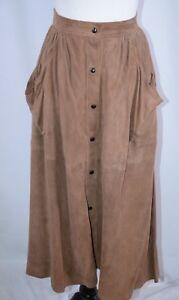 59187a9e22 Fendi Women's Skirt Sz 38 Suede Brown Long Italy Career Boho Gypsy ...