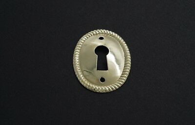 "1/"" Keyhole Cover Plate Escutcheon Furniture Brass Key Hole Lock Plate"