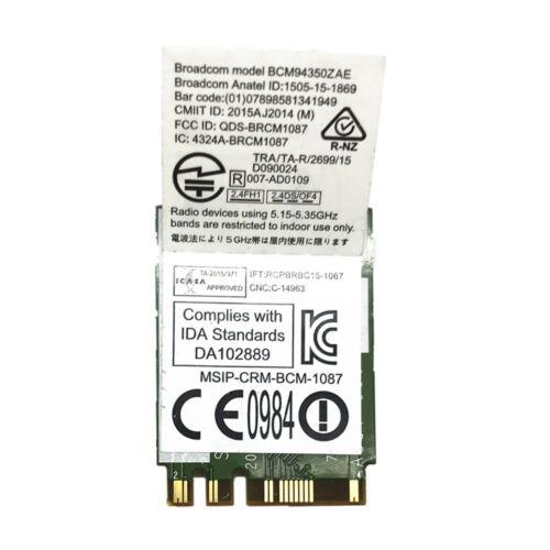 Broadcom BCM94350ZAE 802.11AC 867Mbps Wireless DW1820A Bluetooth 4.0 M.2 NGFF