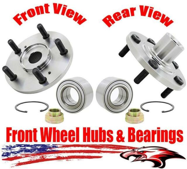 Front Wheel Hubs & Bearings Kit For Acura CL RSX TL