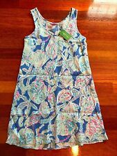Lilly Pulitzer Patterson Dress Bay Blue Into The Deep L