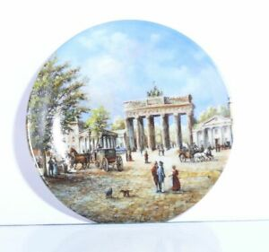 Collection-Plate-Vohenstrauss-Town-Gates-The-Brandenburg-Gate-With-Certificate