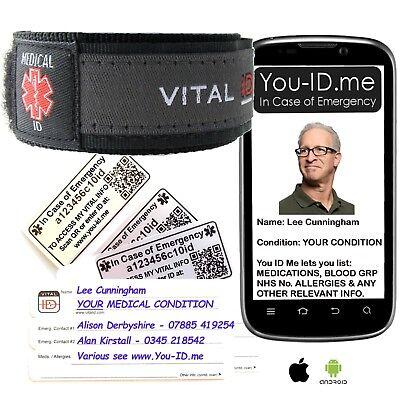 Cellulare all' emergenza Sicuro identità Autismo Band Bracciale polso Bambino Telefono ADHD ID q85wIzW