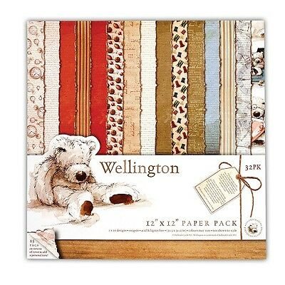 Scrapbooking Papierset Wellington Teddy Teddybär Wellington Bear