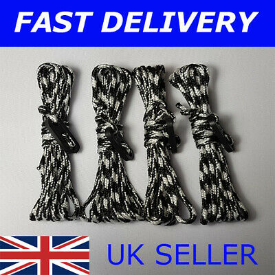 X4 BRIGHT BLUE Guy Line Ropes 2.4 Metres Tent Camping Gazebo Rope Paracord