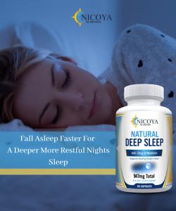 Natural Deep Sleep Supplement - Melatonin 10 mg, Sleep Aid - Deeper Nights Rest