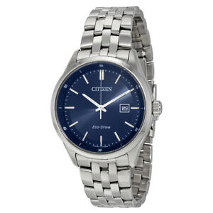 Citizen-Eco-Drive-Men-039-s-Calendar-Date-Blue-Dial-41mm-Watch-BM7251-53L
