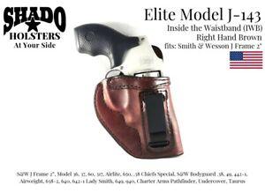 SHADO Leather Holster USA Elite Model J-143 Right Hand Brown S&W J Frame