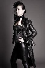 Impero Womens Designer Black Unique Coat With Corset Gothic Victorian Inspired