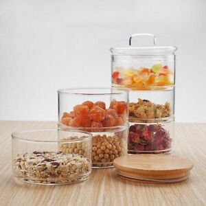 Kitchen-Borosilica-Glass-3-Layer-Mason-Food-Jar-Lids-Sets-Spices-Dried-Fruits