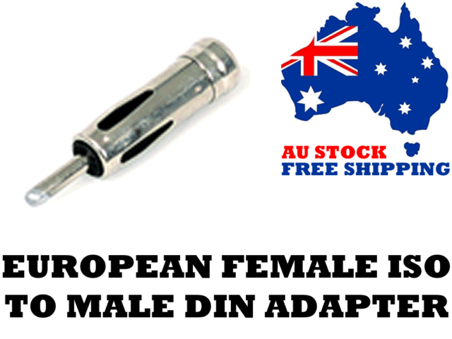 Aerpro AP349 Antenna Adapter, European Female ISO to Male DIN