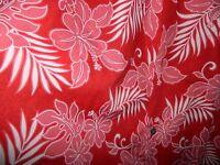 Vtg Royal Hawaiian Creations Men Red Pink Tropical Hibiscus Foliage Shirt Xl