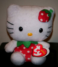 Ty Beanie Baby ~ HELLO KITTY STRAWBERRY UK Exclusive Cat NEW ~ MINT w/ MINT TAGS