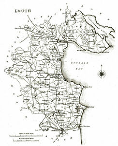 Map Of Ireland Louth.Details About Large Map Of County Louth Ireland C1840
