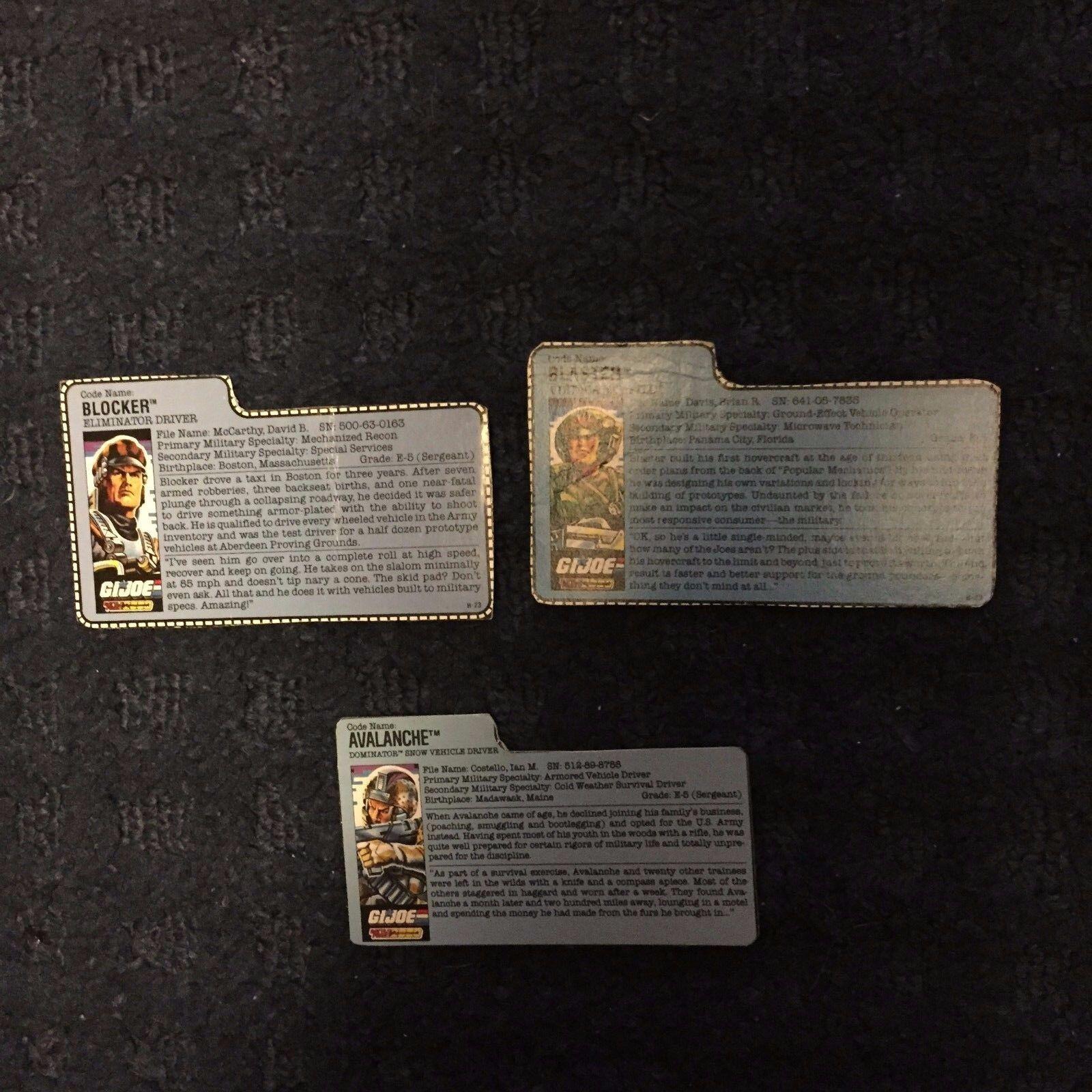 GI Joe File Card Lot Vintage 1980s Battle Force 2000 3 cards