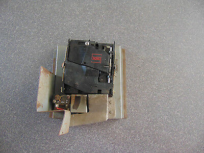 Used Skee Ball Full Coin Mechanism Unit with switch Slide Bracket Coin Chute